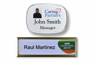 Classic Recessed Metal Name Badge