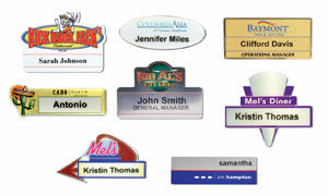 Laquered Metal Name Badges