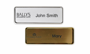 Metal Framed Name Badge